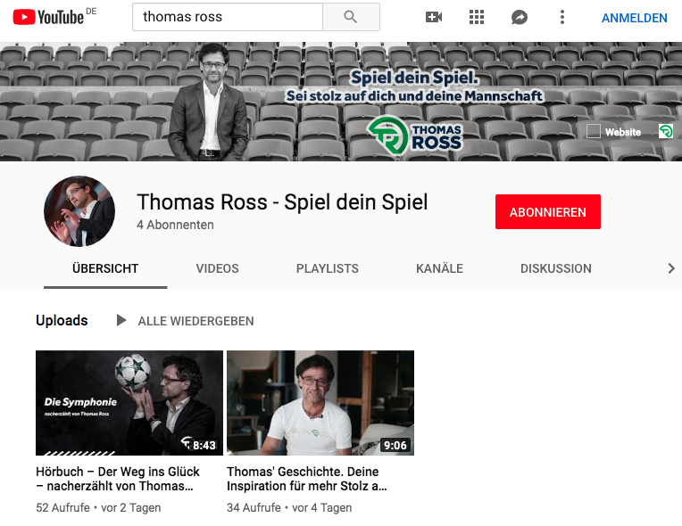 Thomas Ross YouTube Kanal